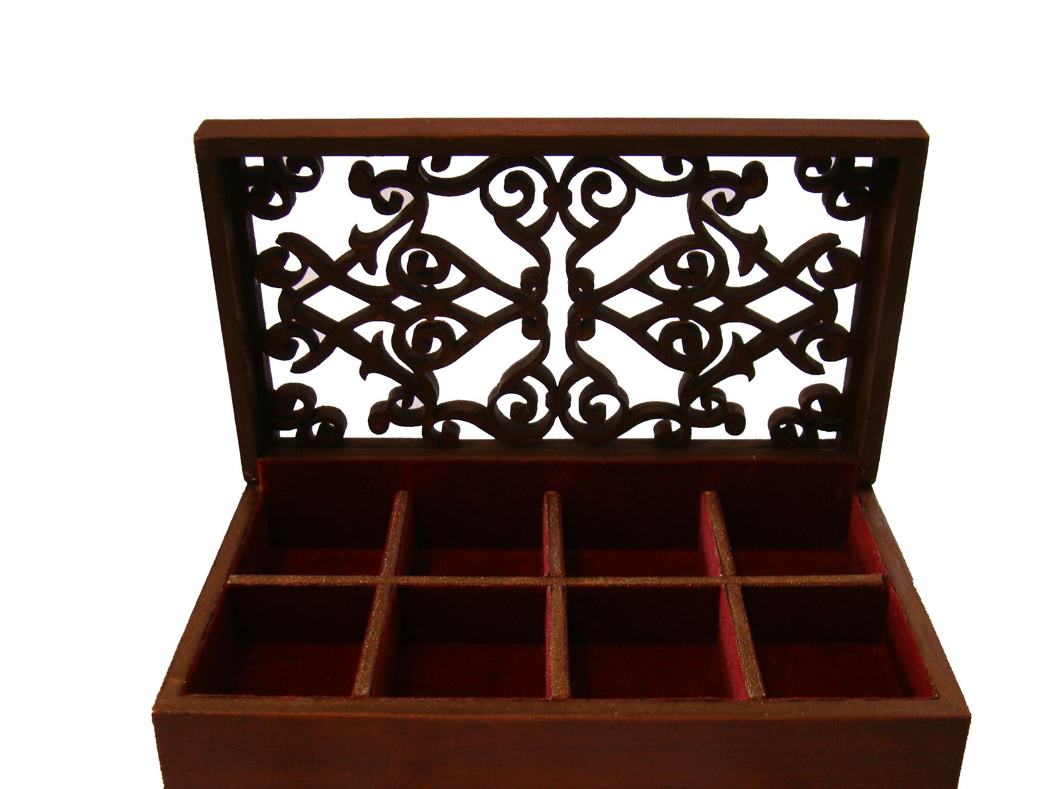 caja fina de chocolates calada
